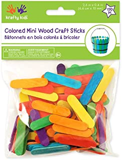 Mini Craft Sticks-Colored 2.6