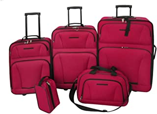 vidaXL Juego de Maletas de Viaje 5 Piezas Diversos Tamaños Rojo Set Equipaje