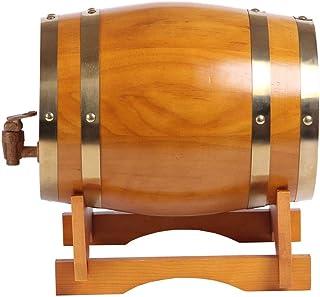 ZHhome Tonneau à vin en Bois Barils en chêne, Tonneau de vin Vintage Les barils de Whisky, Peut être utilisé for la vinifi...