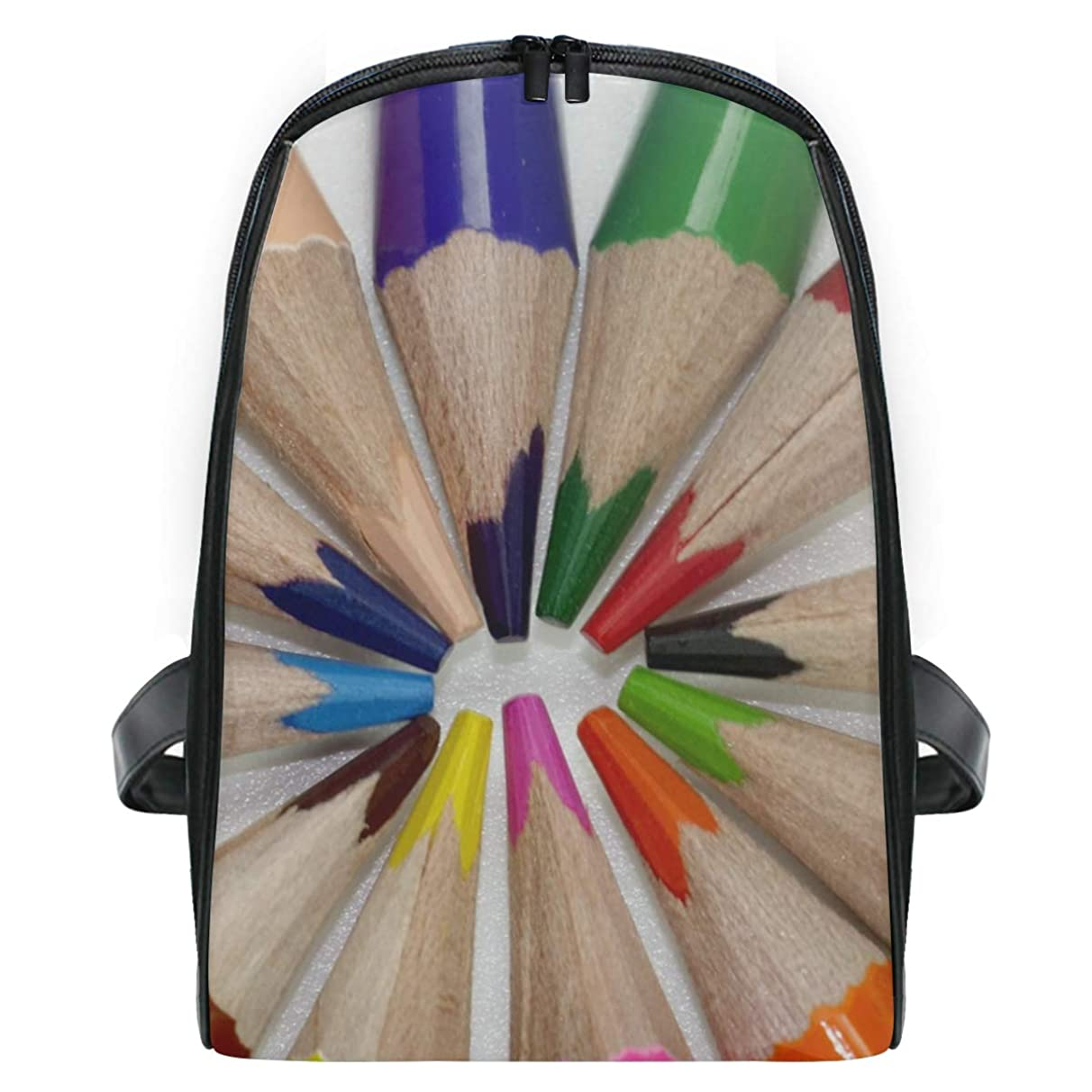 Backpack Colored Pencil Personalized Shoulders Bag Classic Lightweight Daypack