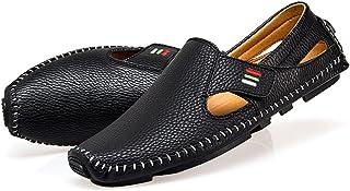 [天豊] メンズ サマー通気性本革 ビジネス靴ローファーセットの足スリッポン カジュアルシューズ ドライビングシューズ ホワイト 運転靴大きいサイズ24cm-28.5cm 軽量