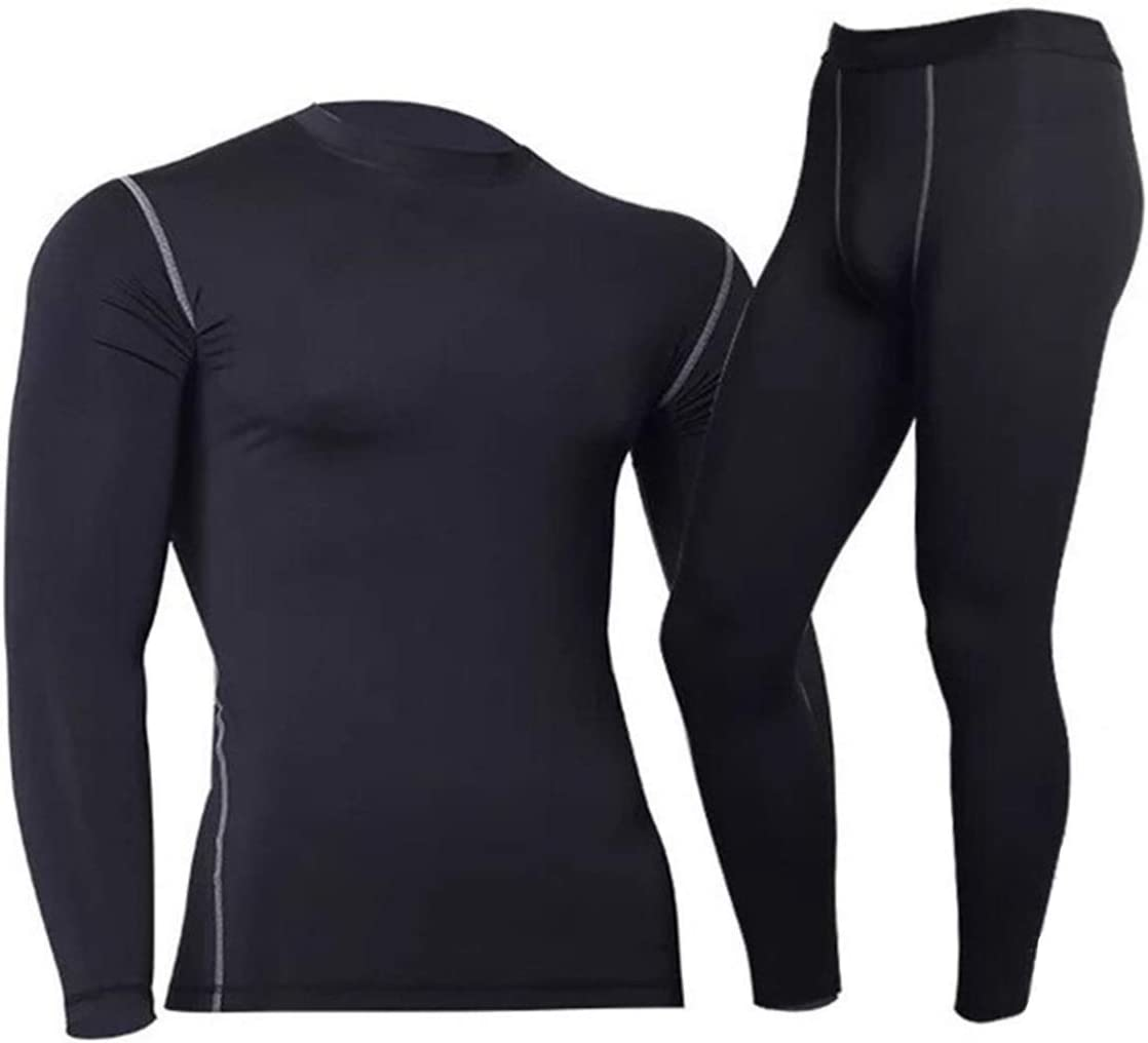 Glqwe Thermal Underwear for Man Thermo Clothes Long Johns Clothing Sets Compression Thermal Tights Winter Underwear Set Man Quick Dry (Color : 1, Size : Medium)