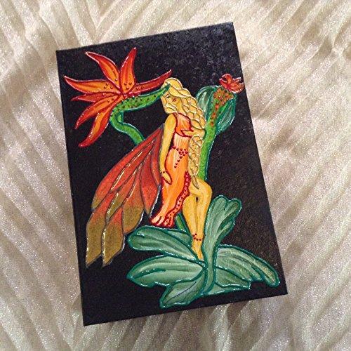 Fairy art, keepsake box, decorative fairy box, memories box, fairy painting, jewelry case, handpainted box fairy artwork, jewelry box, fairy deco, girl gift