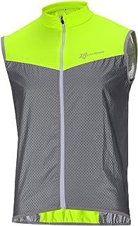 Sunbike Gilet Coupe-Vent r/éfl/échissant sans Manches pour Cycliste Coupe-Vent pour Hommes