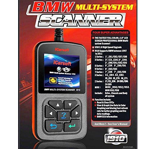 iCarsoft i910 OBD2 Test Diagnose Auto Fehler Scanner Auslesegerät für BMW 1 3 5 6 7 8 X Z Serie