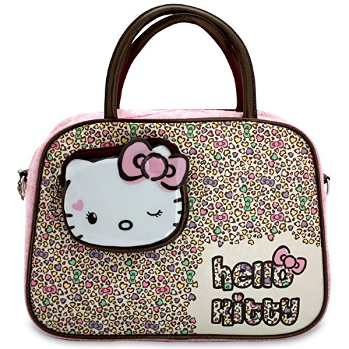 Hello Kitty Sac à main Rose Cheetah