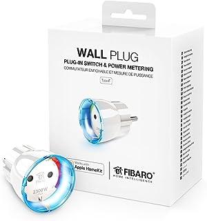 FIBARO HomeKit Wandplug/iOS Bluetooth Smart Switch, stopcontact plug met vermogensmeting type F, FGBWHWPF-102