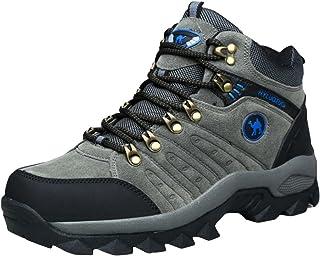 حذاء برقبة عالية رمادي اللون للرجال للمشي لمسافات طويلة ومسامي من 3C Camel HUAYU 5696