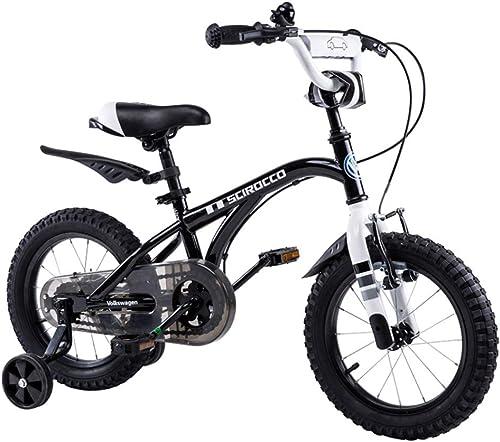 Kinderfürr r fürrad Kinder Mountainbike Dreirad SGS-zertifiziertes Stahlrahmen-Kinderfürrad sicheres Mountainbike für Kinder fürr r (Farbe   schwarz, Größe   16 inches)