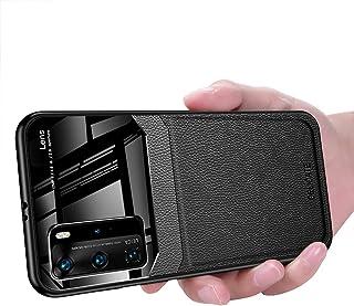 Huawei P40 Pro Case, Ikwcase Business Slim Litchi Skin Anti-slip TPU Bumper Hybrid Glass Lens Protective Case Cover for Hu...
