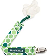 BooginHead - PaciGrip Pacifier Clip and Pacifier Holder with Universal Loop - Hopper, Green and White
