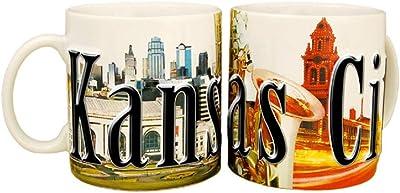 Americaware smknc01Kansas City 18ozフルカラーRelief Mug