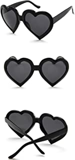 Sunglasses Fashion Accessories Women Fashion Heart Shaped Retro Sunglasses Cute Eyewear9775 (Color : Red)