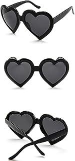 Sunglasses Fashion Accessories Women Fashion Heart Shaped Retro Sunglasses Cute Eyewear9775 (Color : White)