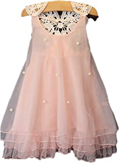 Borlai 2-6T Baby Kid Girls Floral Lace Tulle Mesh Birthday Wedding Gown Princess Dress