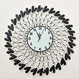 C-GZ Canvas Clock Canvas Wall Art Moderno Contemporaneo Semplice Creativo Strano Orologio al Quarzo Muto Soggiorno Orologio da Parete Arte Mestiere Muro di Tela per Uso Interno, Ne