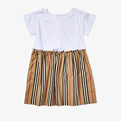 Burberry Kids Rhonda Stripe Dress (Little Kids/Big Kids) (White) Girl