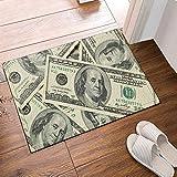SRJ2018 Gran Billete de 100 yuanes de EE. UU. Franklin Super Absorbente, Alfombrilla Antideslizante o tapete de la Puerta, Suave y cómodo