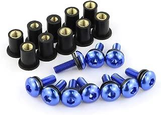 Repuestos Powersports 10 piezas de M5 * 16 Parabrisas Pernos kits For Honda CBR500R CBR600F CBR650F CBR650R CBR125R CBR150R CBR250R CBR300R CBR250RR CBR400R (Color : Blue)
