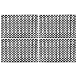 X AUTOHAUX 4pcs Car Rear Tail Light Lamp Stickers Honeycomb Type Decal Carbon Fiber Style Black 48 x 30cm