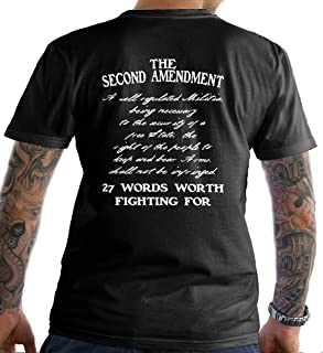 Sons Of Liberty The Second Amendment. 27 Words Worth Fighting for T-Shirt. Ma.