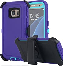 Galaxy S7 Case, AICase [Heavy Duty] [Full Body] Tough 4 in 1 Rugged Shockproof Cover with Belt Clip Armor Protective Cover for Samsung Galaxy S7 (2016) (Purple)