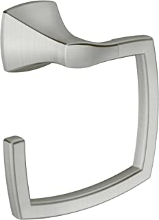 Moen YB5186BN Voss Collection Bathroom Hand Towel Ring, Brushed Nickel