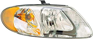 Headlight Replacement For Dodge Grand Caravan/Caravan|Chrysler Town & Country|Voyager Passenger Right Side Rh 2005 2006 2007 Headlamp Assembly