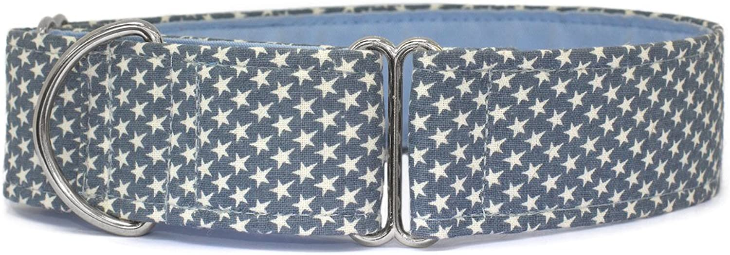 Noddy & Sweets Martingale Collar 1.5  Width [Lil' Stars bluee]  Large