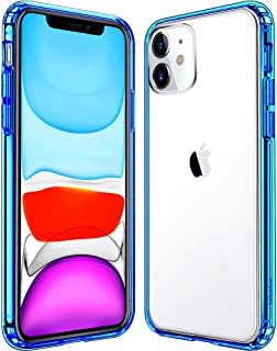 Mkeke Compatible with iPhone 11 Case, Clear iPhone 11 Cases Cover for iPhone 11 6.1 Inch-Blue