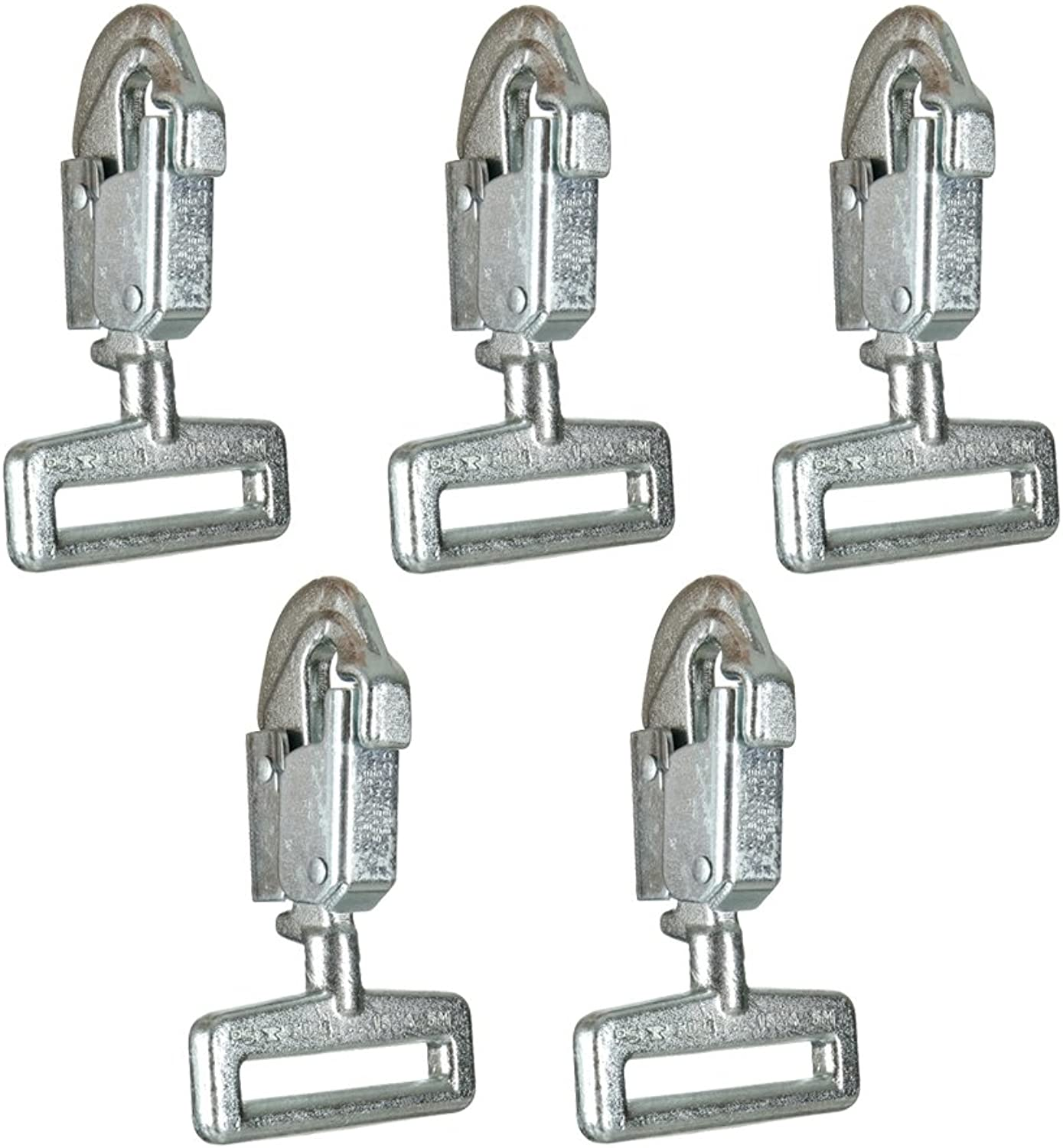 Fusion Climb Cobra Carbon Steel Drop Forged Double Lock Snap Hook 5Pack