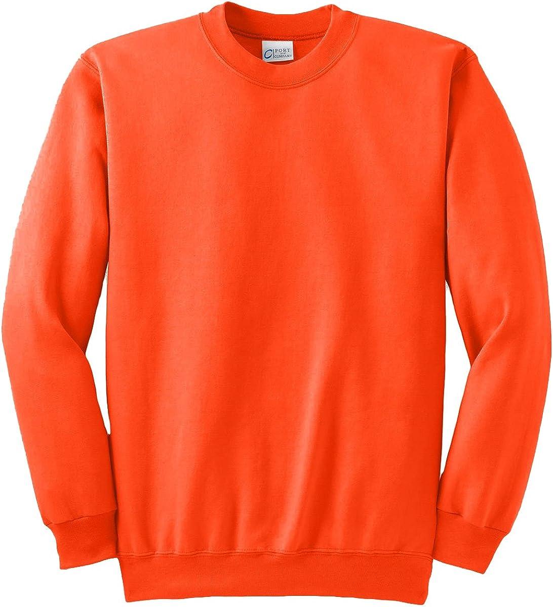 Port & Company Tall Ultimate Crewneck Sweatshirt>4XLT Safety Orange PC90T