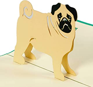 Happy Birthday Pug – 3d tarjeta de/Pop Up/tarjeta de felicitación – Tarjeta de cumpleaños, tarjeta de felicitación, tarjet...