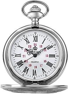 Pocket watch Montre de Poche - Vapeur Creux Retro Antique Haut de Gamme Hot Grand Clamshell mécanique Montre de Poche Roma...