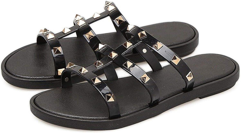 Women Slides Summer Rivet Slippers Women shoes Flip Flops Sandals Upstream Lady shoes