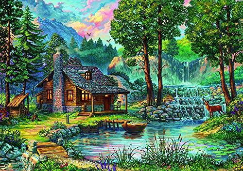 GUANGMANG Jigsaw Puzzle 1000 Pieces Carteles De Películas Casa De Cuento De Hadas Rompecabezas,Rompecabezas para Suelo, Niños Y Adultos,75X50Cm