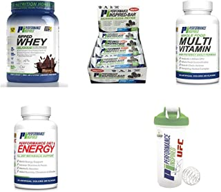 Performance Inspired Weight Loss Bundle With Ripped Whey - (Multi Vitamin, Diet & Energy, Box Of Inspired Bars (Cookies N' Cream Extreme), Ripped Whey (Dark Chocolate Dream), Blender Bottle- INT SHP