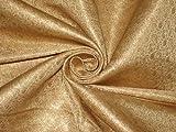 Puresilks Seidenbrokat-Stoff, metallisch, goldfarben und goldfarben, 111,8 cm, Meterware