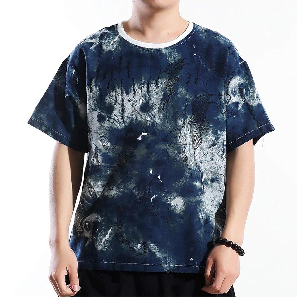 死着飾る洪水メンズリネンTシャツクラシック印刷ポロシャツ,黒,XXXL