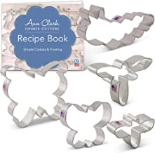 Ann Clark Cookie Cutters 5-Piece Bug/Insect Cookie Cutter Set with Recipe Booklet, Bee, Caterpillar, Dragonfly, Large Butterfly and Butterfly
