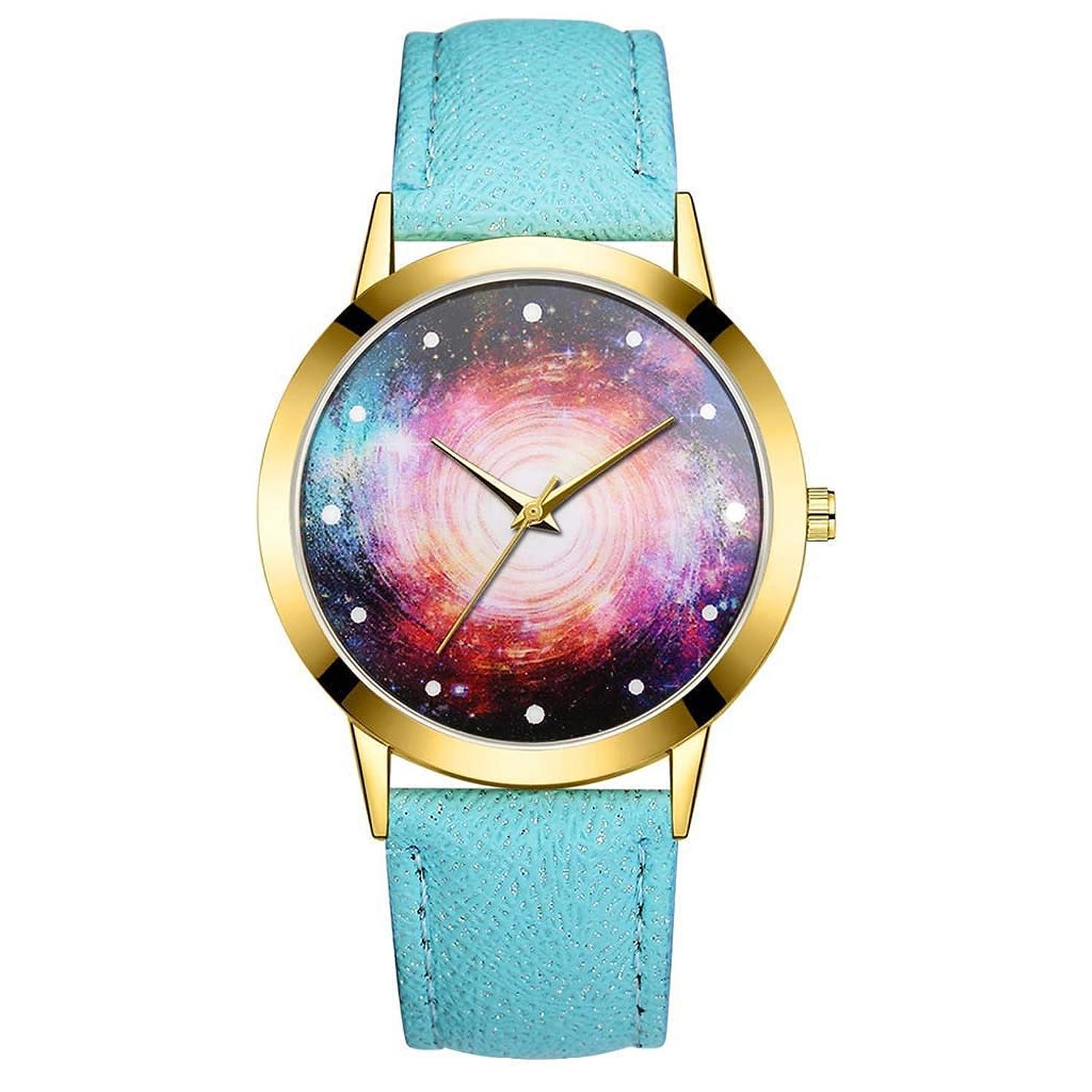 2019-Shi TOU-Fashion Luxury Universe Black Hole Leather Belt Watch Ladies Quartz Watch