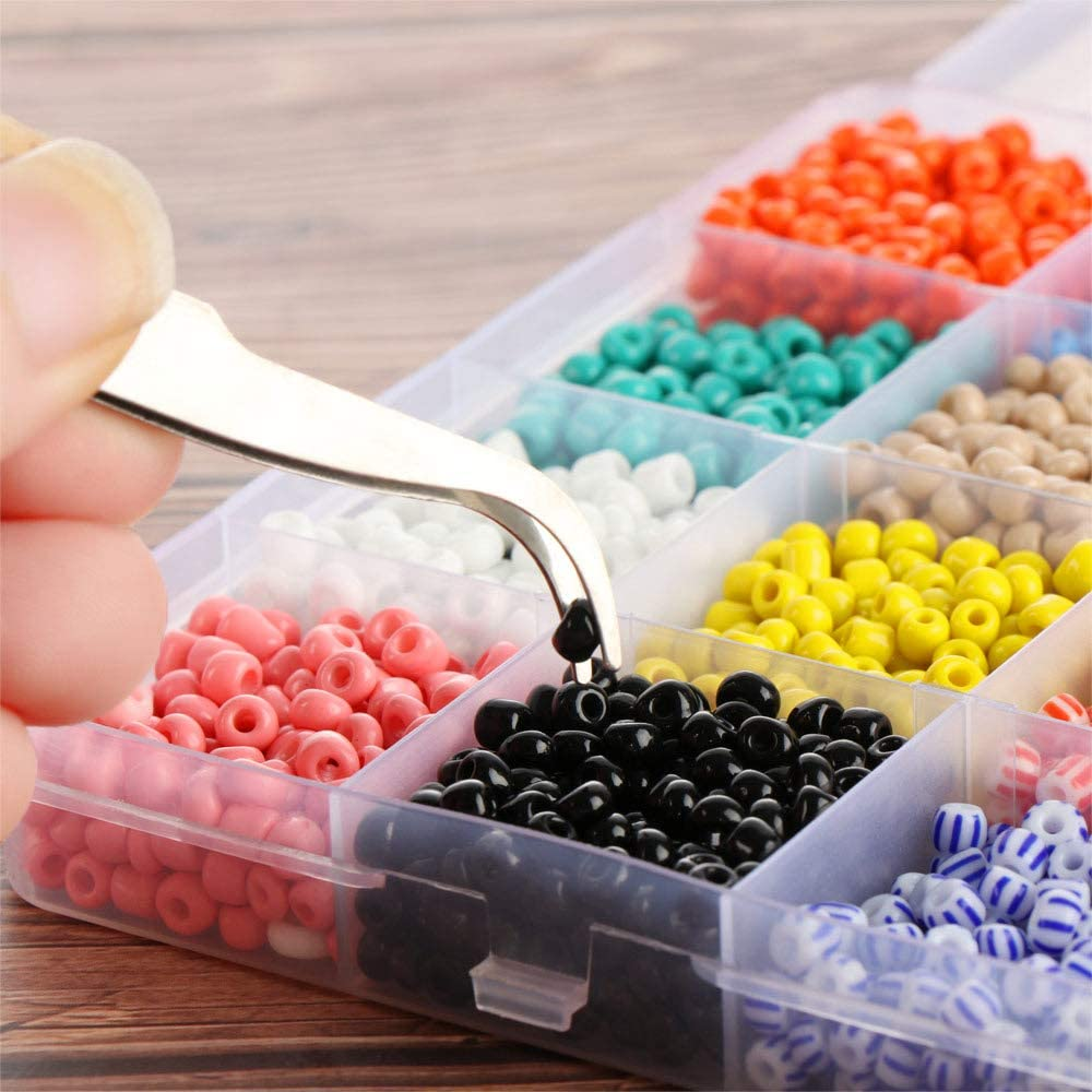 skonhed Jewelry Making Beads Kit 24colors Beads and DIY Tools in with Elastic String for Bracelets 3mm Beads Set