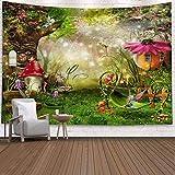 Brandless Forest Mushroom Tapestry Mysterious Wizard Witch Magic Wide Wall Hanging para Dormitorio Sala de Estar Dormitorio m 200x150cm