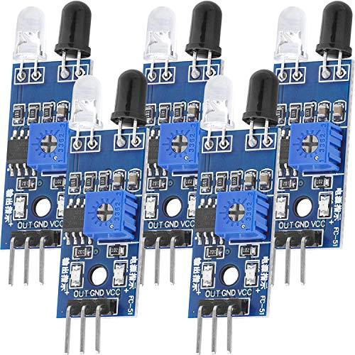 AZDelivery 5 x IR Infrarot Modul für Hinderniserkennung Abstand Sensor kompatibel mit Arduino und Raspberry Pi inklusive eBook!