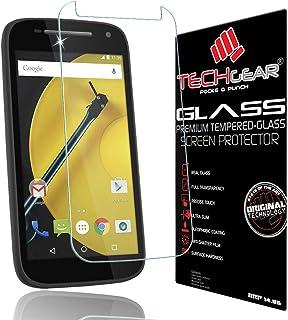 TECHGEAR skärmskydd för Moto E (2 generen/2015 utgåva) – GLASS Edition äkta härdat glas skärmskydd skydd skydd kompatibel ...