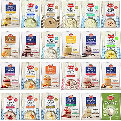 Easiyo MEGA Variety Pack Yogurt Base Mixes Sachets (24 yoghurt flavours)...