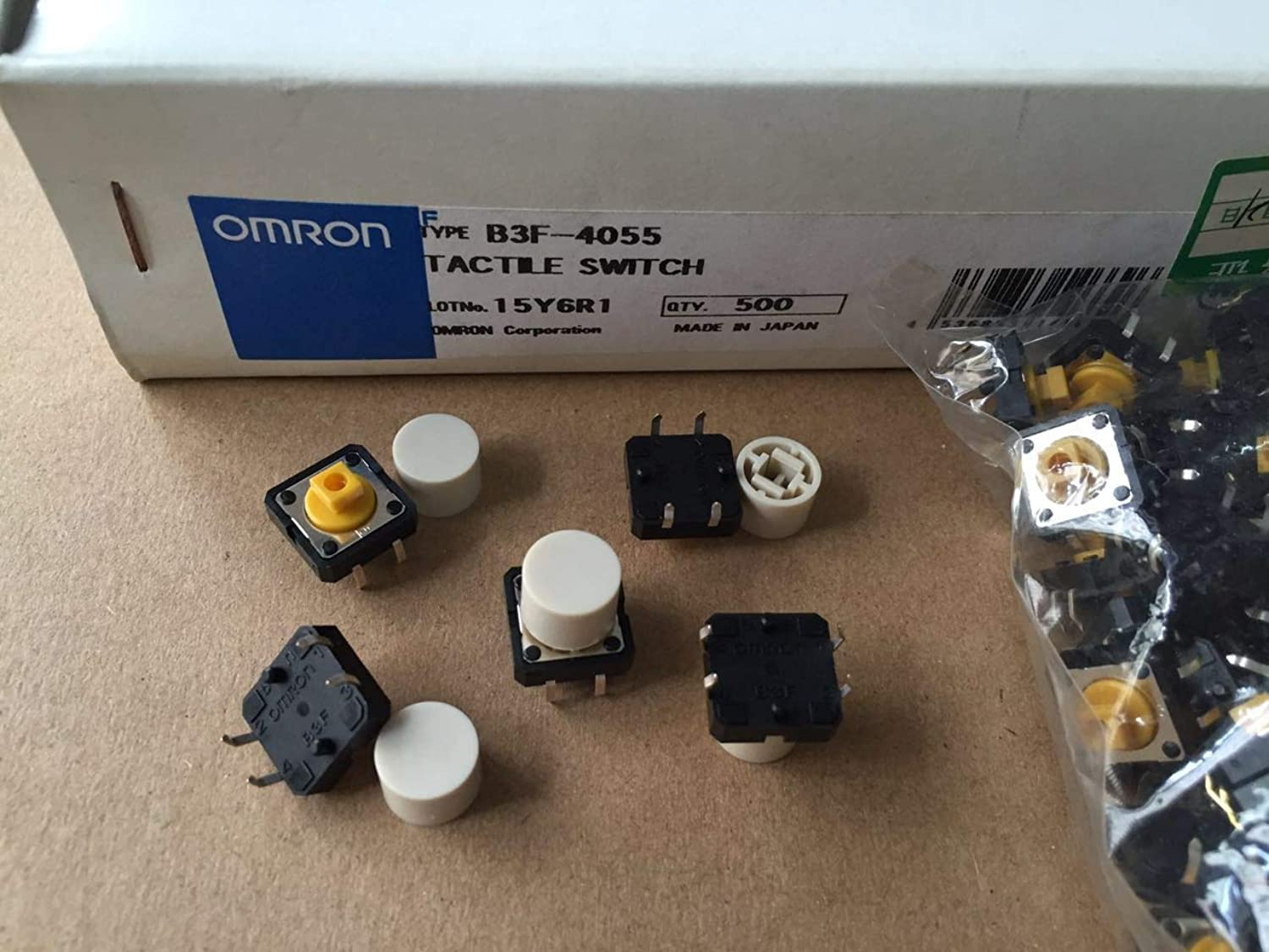 Original Imported Omron MicroTouch Switch B3F4055 Button Button 12  12  7.3mm Japanese 4 feet