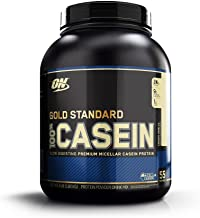 OPTIMUM NUTRITION GOLD STANDARD 100% Micellar Casein Protein Powder, Slow Digesting, Helps Keep You Full, Overnight Muscle Recovery, Creamy Vanilla, 1.81 kg