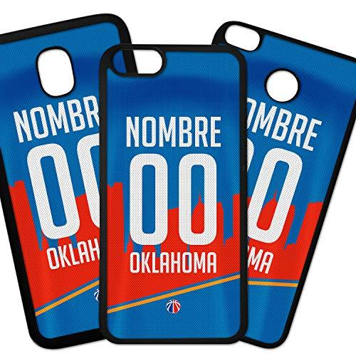 ELHURON Fundas De Moviles Carcasas De Moviles Funda Carcasa Compatible con Camiseta NBA Oklahoma City Thunder con tu Nombre y tu Numero