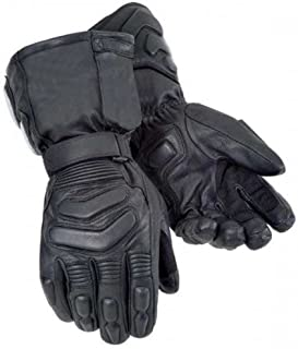 Bikers Gear Storm Winter Thinsulate Kevlar and Hipora Waterproof Gloves, Black, Size: M